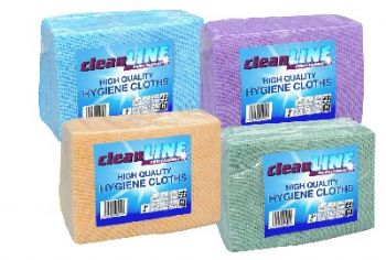 Cleanline High Quality Hygiene Cloths x 25 (Various Colours)